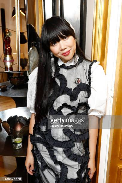 Susanna Lau attends the Schiaparelli Cocktail to celebrate Daniel Roseberry first Haute Couture Collection as part of Paris Fashion Week on July 01...