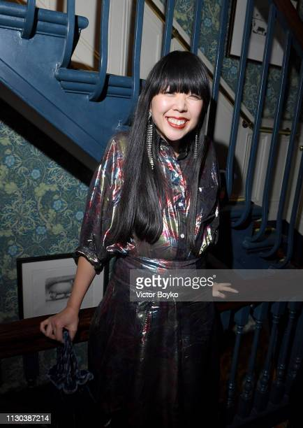 Susanna Lau attends the Victoria Beckham x YouTube Fashion Beauty After Party at London Fashion Week hosted by Derek Blasberg and David Beckham at...