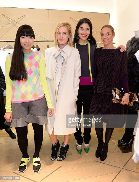 Susanna Lau, Polly Morgan, Caroline Issa and Tiphaine De Lussy attend the Deconstructed Project with a private dinner hosted by Caroline Issa, David...