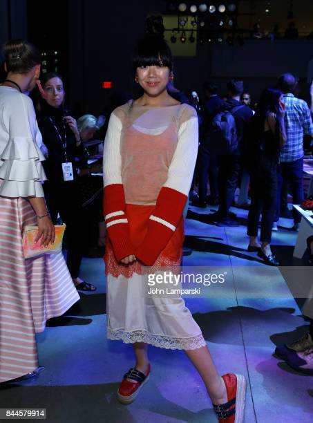 Susanna Lau Susie Bubble attends Jeremy Scott collection during the September 2017 New York Fashion Week The Shows on September 8 2017 in New York...