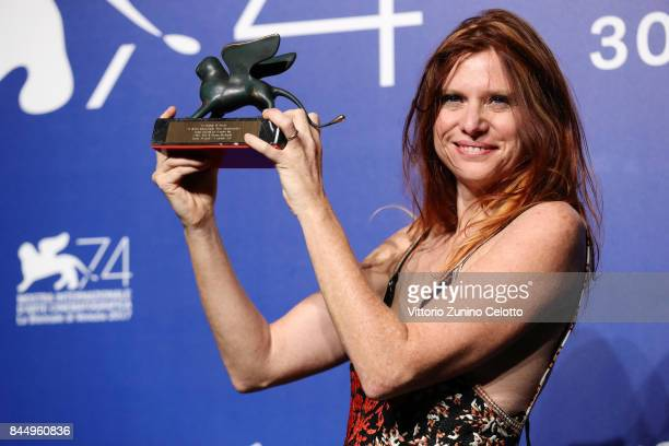Susanna Nicciarelli poses with theOrizzonti Award for Best Film for 'Nico 1988' at the Award Winners photocall during the 74th Venice Film Festival...