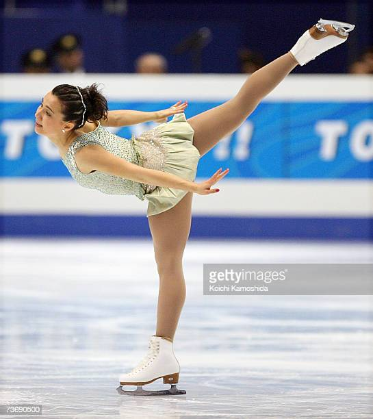 Susanna Poykio of Finland performs during the women's Free Skating program at the World Figure Skating Championships at the Tokyo Gymnasium on March...