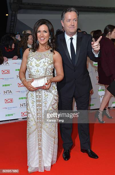 Susanna Reid and Piers Morgan attend the 21st National Television Awards at The O2 Arena on January 20 2016 in London England