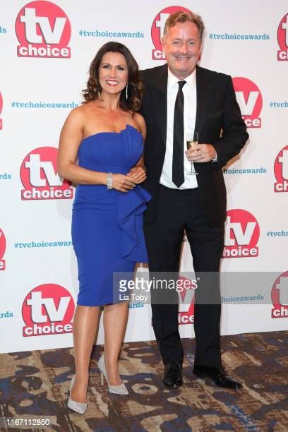 Susanna Reid and Piers Morgan attend The TV Choice Awards 2019 at Hilton Park Lane on September 9 2019 in London England
