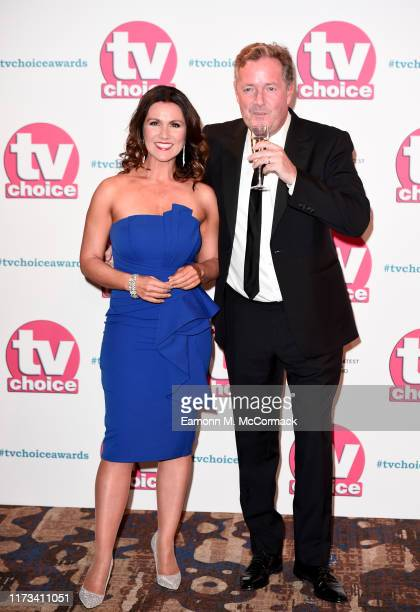 Susanna Reid and Piers Morgan attend The TV Choice Awards 2019 at Hilton Park Lane on September 09, 2019 in London, England.