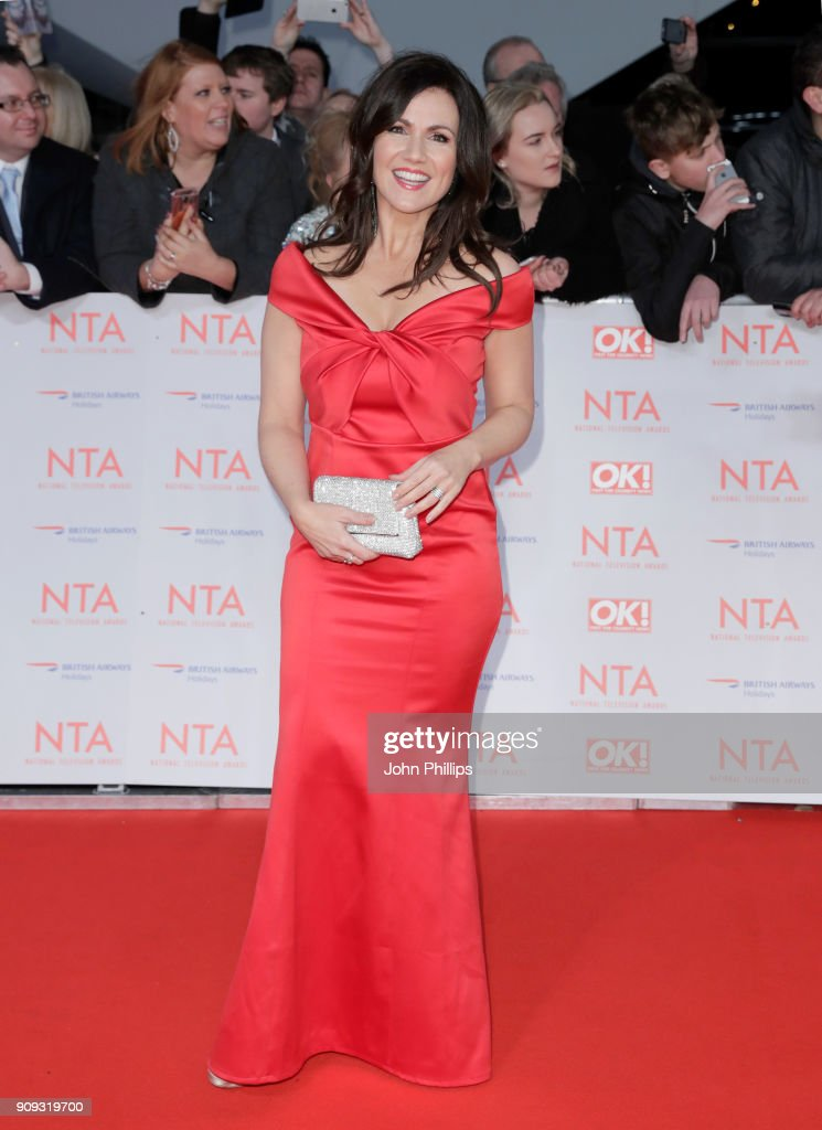 Susanna Reid attends the National Television Awards 2018 at the O2 Arena on January 23, 2018 in London, England.
