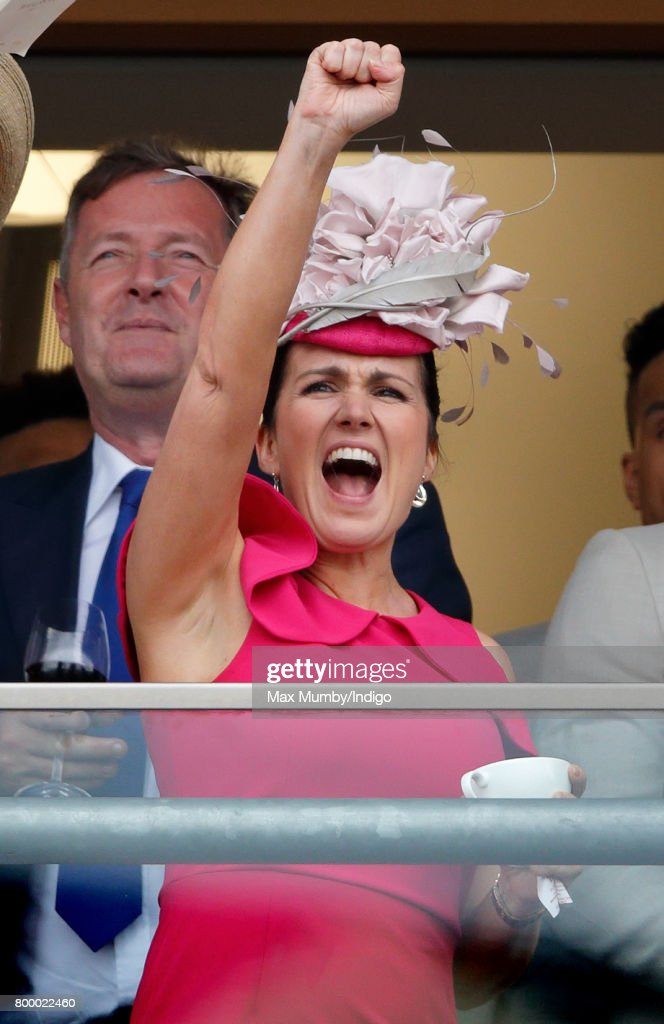 Susanna Reid watches the Gold Cup as she attends day 3, Ladies Day, of Royal Ascot at Ascot Racecourse on June 22, 2017 in Ascot, England.