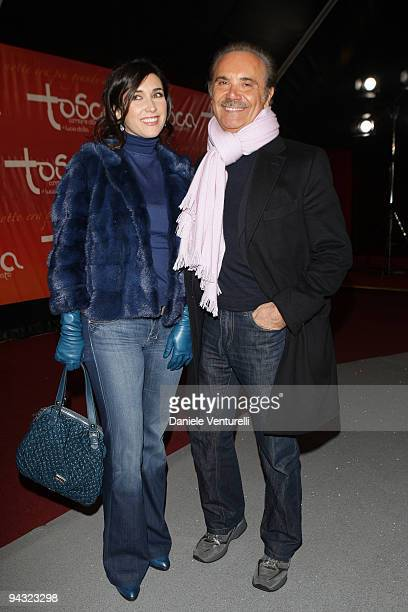 Susanna Smit and Mauro Masi attend the 'Tosca amore disperato' at the Gran Teatro Theatre on December 11, 2009 in Rome, Italy.