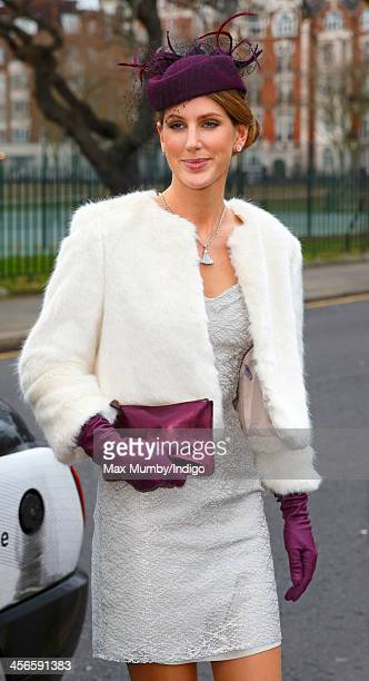 Susanna Warren attends the wedding of Jake Warren and Zoe Stewart in the Wren Chapel at the Royal Hospital Chelsea on December 14 2013 in London...