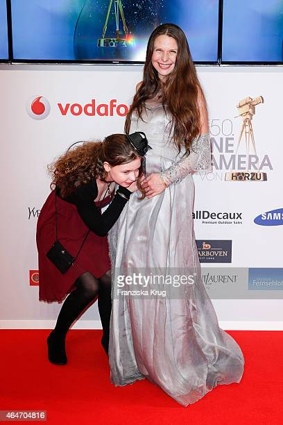 Susanna Wellenbrink and her daughter Mia Sophie Wellenbrink attend the Goldene Kamera 2015 on February 27 2015 in Hamburg Germany