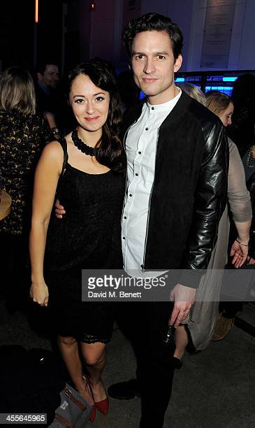 Susannah Fielding and Ben Aldridge attend an after party celebrating the press night performance of American Psycho at The Almeida Theatre on...