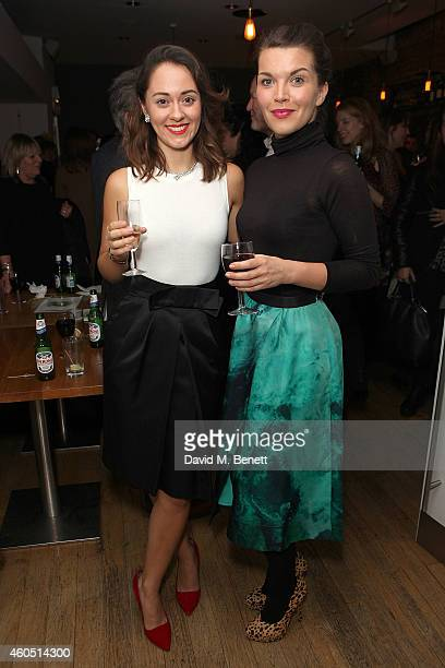 Susannah Fielding and Emily Plumtree attend an after party following the press night performance of The Merchant Of Venice at The Almeida Theatre on...