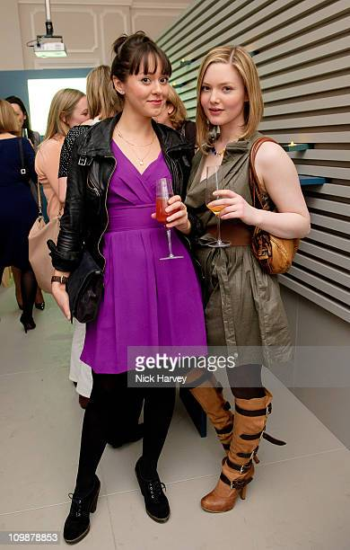 Susannah Fielding and Holliday Grainger attend Vanity Fair rocks at the Corinthia Hotel London on March 8 2011 in London England