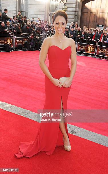 Susannah Fielding arrives at the 2012 Olivier Awards held at The Royal Opera House on April 15 2012 in London England