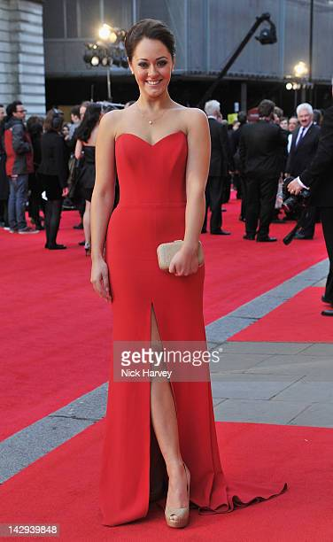 Susannah Fielding arrives at the Olivier Awards 2012 at The Royal Opera House on April 15 2012 in London England