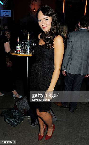 Susannah Fielding attends an after party celebrating the press night performance of American Psycho at The Almeida Theatre on December 12 2013 in...