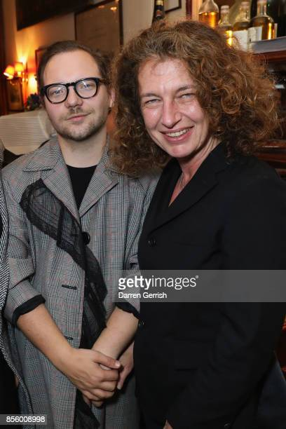 Susannah Frankel and Alexander Fury attend a dinner in Paris to celebrate Another Magazine A/W17 hosted by Vivienne Westwood Andreas Kronthaler...