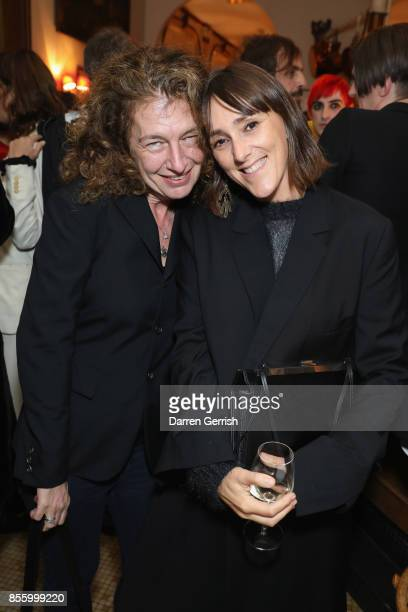 Susannah Frankel and Annika McVeigh attend a dinner in Paris to celebrate Another Magazine A/W17 hosted by Vivienne Westwood, Andreas Kronthaler,...