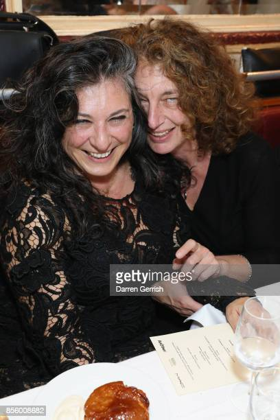 Susannah Frankel and Sophia Neophitou attend a dinner in Paris to celebrate Another Magazine A/W17 hosted by Vivienne Westwood, Andreas Kronthaler,...