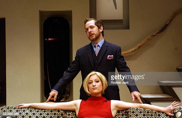 Susannah Harker and Tom Hollander in the production The Hotel In Amsterdam at the Donmar Warehouse