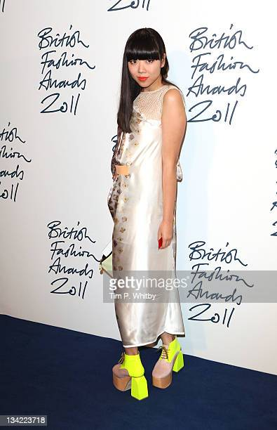 Susannah Lau arrives at the British Fashion Awards at The Savoy Hotel on November 28 2011 in London England