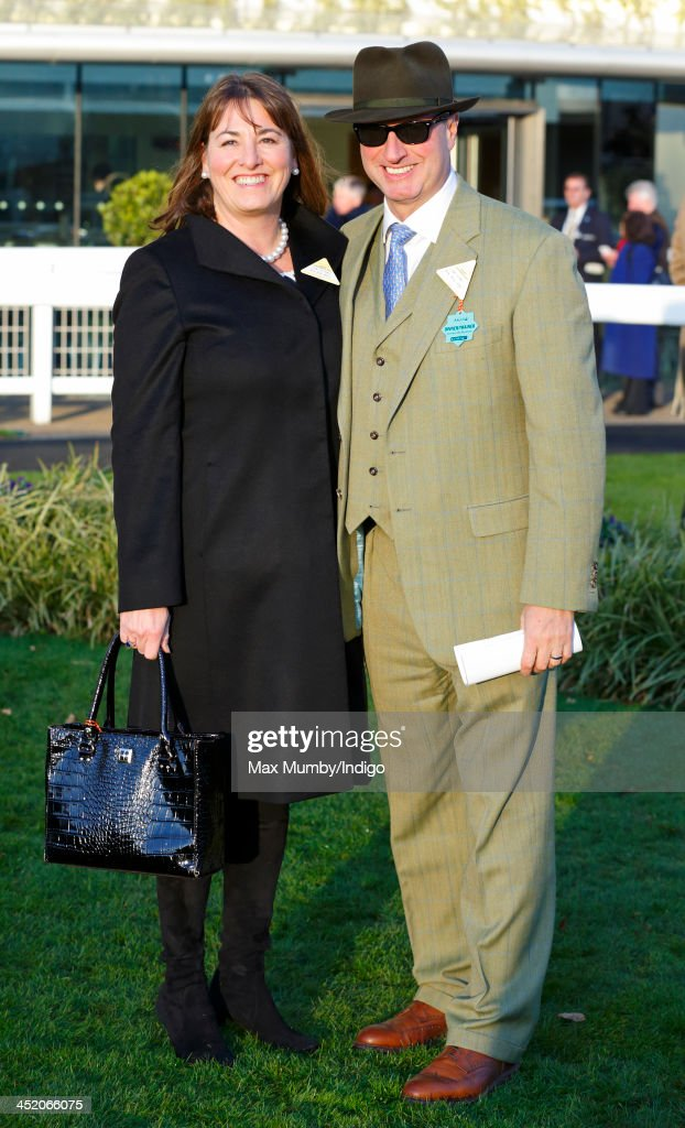 Susannah Ricci and husband Rich Ricci attend the November Meeting at Ascot Racecourse to watch their horse Annie Power run in the Coral Hurdle Race on November 23, 2013 in Ascot, England.