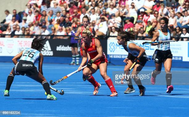Susannah Townsend of England during the Investec International match between England Women and Argentina Women at The Lee Valley Hockey and Tennis...