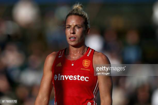 Susannah Townsend of England looks on during the Quarter Final match between England and India during the FIH Hockey World League Women's Semi Finals...