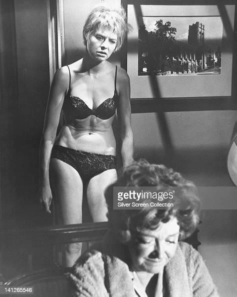 Susannah York British Actress Wearing Black Underwear