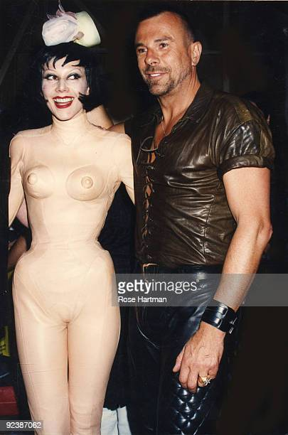 Susanne Bartsch and designer Thierry Mugler at Barsch Fashion Show/Wedding held at the Hammerstein Ballroom New York ca1990s