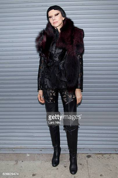 """Susanne Bartsch at the """"Nicopanda Fashion Collection Presentation"""" - departures during NYFW A/W 2016 at 541 West 22nd Street in New York City. �� LAN"""