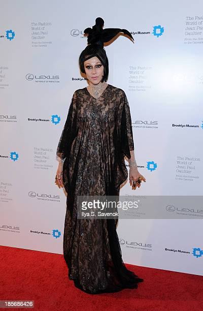 Susanne Bartsch attends the VIP reception and viewing for The Fashion World of Jean Paul Gaultier From the Sidewalk to the Catwalk at the Brooklyn...
