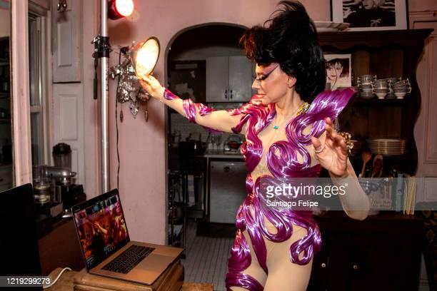 Susanne Bartsch hosts her 'ONTOP' ONLINE party via ZOOM on April 16 2020 in New York City