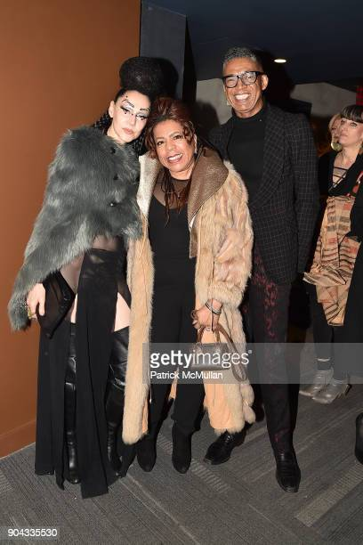 Susanne Bartsch Valerie Simpson and B Michael at The Cinema Society Bluemercury host the premiere of IFC Films' 'Freak Show' at Landmark Sunshine...
