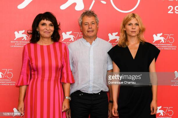 Susanne Bier Alessandro Baricco and Clemence Poesy attend Venice Virtual Reality Jury photocall during the 75th Venice Film Festival at on September...