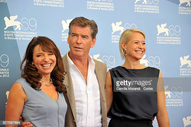 Susanne BierPierce Brosnanat and rine Dyrholm 69��Venice Film Festival during the photocall of the film Love is all you need