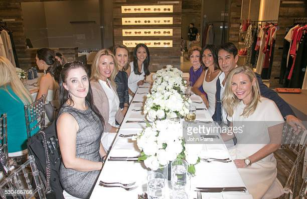 Susanne Birbragher Allison Hodge Paula Liu Kinga Lampert Shari Liu Amanda Church Rene Ruiz and Molly Austin attend the Max Mara Celebrates Princess...