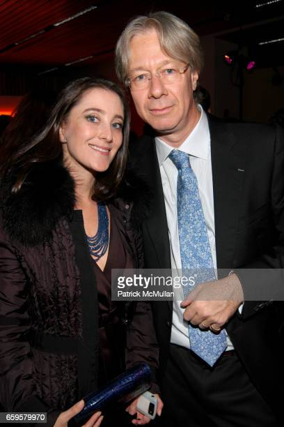 Susanne Birbragher and Julian Zugazagoitia attend EL MUSEO DEL BARRIO Inaugural Preview and Reception at El Museo Del Barrio on October 15 2009 in...