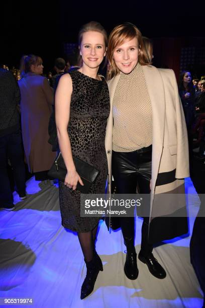 Susanne Bormann and Franziska Weisz attend the Dawid Tomaszewski show during the MBFW Berlin January 2018 at ewerk on January 15 2018 in Berlin...