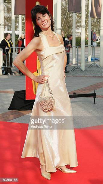 Susanne Bormann arrives at the German Film Award at the Palais am Funkturm on April 25 2008 in Berlin Germany
