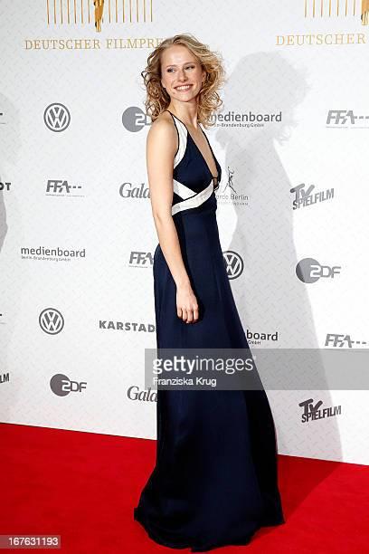 Susanne Bormann attends at the Lola German Film Award 2013 at FriedrichstadtPalast on April 26 2013 in Berlin Germany