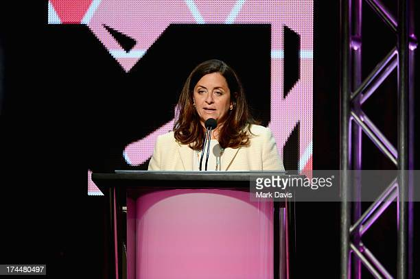 Susanne Daniels MTV President of Programming speaks onstage during the Viacom TCA Summer 2013 presentaton at The Beverly Hilton Hotel on July 26 2013...