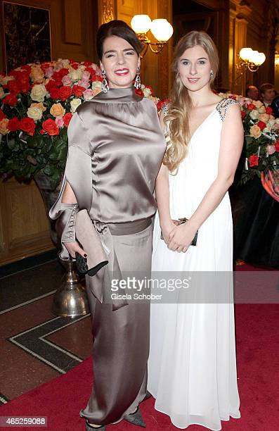 Susanne Daubner Tagesschau presenter and her daughter Johanna pose during the Semper Opera Ball 2015 at Semperoper on January 30 2015 in Dresden...