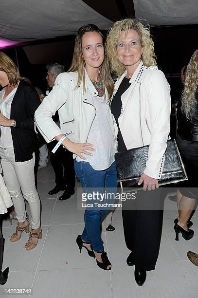 Susanne Froehlich and daughter Charlotte attend the Saisonopening Puro Beach Club at the Puro Beach Club on March 31 2012 in Palma de Mallorca Spain