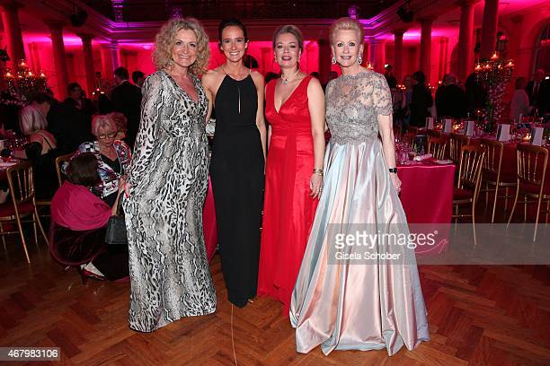 Susanne Froehlich and her daughter Charlotte and Marika Kilius and her daughter Melanie Schaefer during the Spring Ball Frankfurt 2015 at...