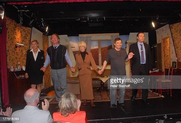 Susanne Habenicht Ralph HB Eckstein Ingrid Steeger Michael Oenicke Oliver Pulch Premiere Theaterstück 'Jackpot' 'Theaterschiff' Bremen Deutschland...