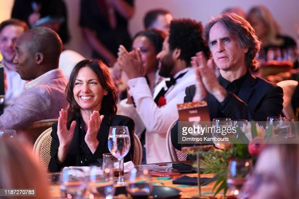 Susanne Hoffs and Jay Roach attend The Charlize Theron Africa Outreach Project fundraising event at The Africa Center on November 12 2019 in New York...