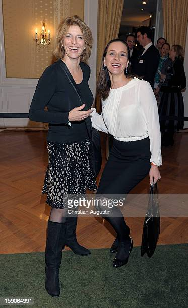 Susanne Holst and Caroline Hamann attend New Years`s reception of Hamburger Abendblatt at Hotel Atlantic on January 7 2013 in Hamburg Germany