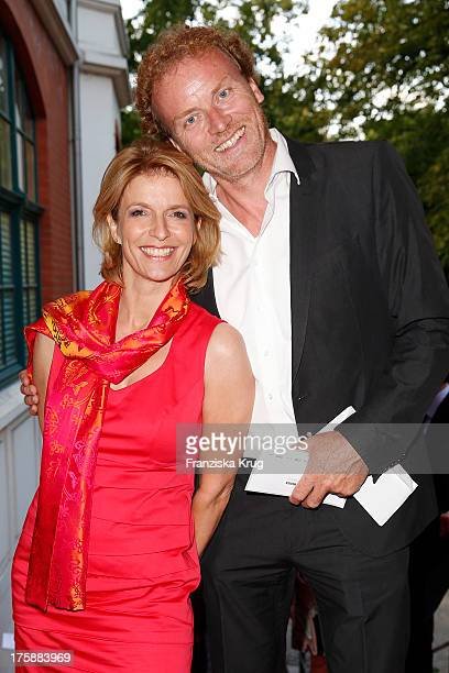 Susanne Holst and Jens de Buhr attend the 'Nacht der Medien 2013' on August 09 2013 in Hamburg Germany