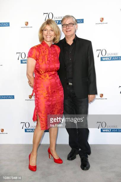 Susanne Holst and Kay Koschel during the 70th anniversary celebration of the German Sunday newspaper WELT AM SONNTAG at The Fontenay Hotel on...